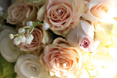Vintage Wedding on Kathleens Florist  Blackpool  Vintage Style Bridal Bouquet In Shades