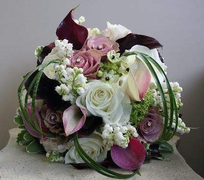Pink Purple Wedding Bouquet