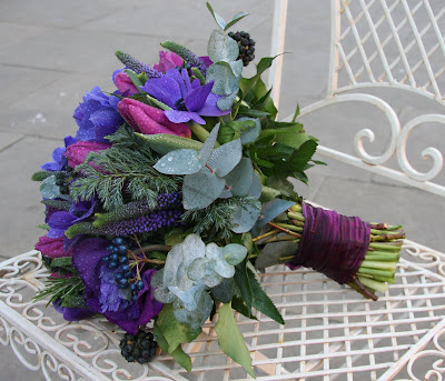 Winter Purple Wedding Bouquet