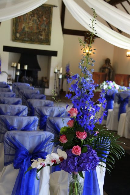 Kerry Darren S Fabulous Royal Blue Pink Wedding At The Great Hall Mains
