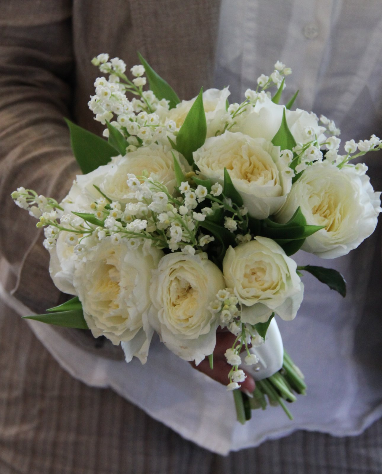 The Flower Magician Lily Of The Valley Amp Patience Rose Wedding Bouquet