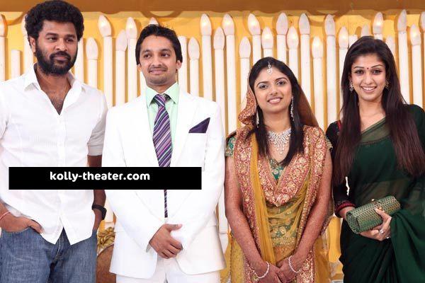 Director Siddiques Daughter Marriage Stills Prabhudeva Nayanthara