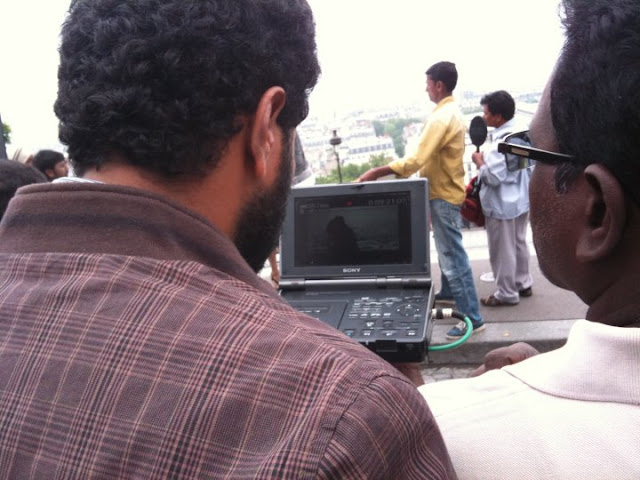 Ich Movie On Location Crew Stills-Prabhudeva1