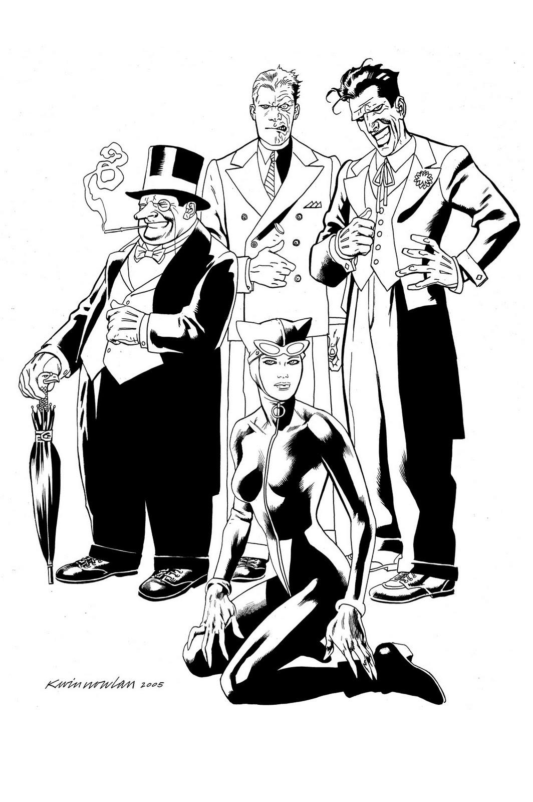 Kevin Nowlan Batman Villains Commission