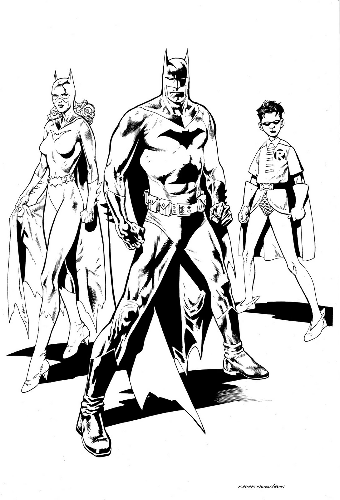 Kevin Nowlan Batman Family 11 X 17 Drawing