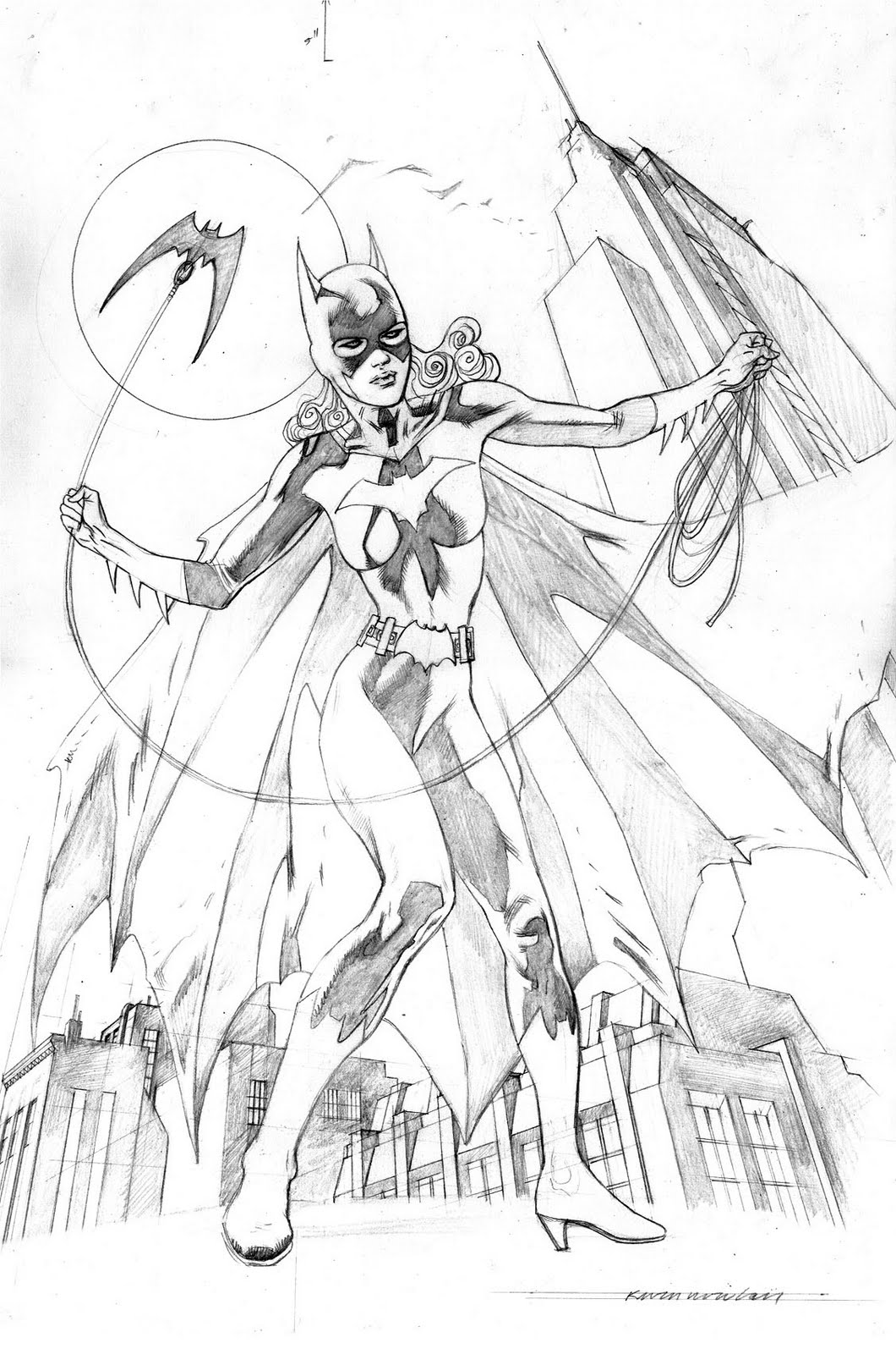 kevin nowlan yet another batgirl pin up