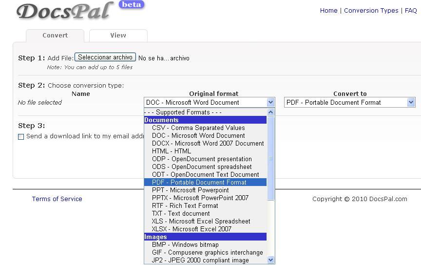 convertir un docx en pdf online
