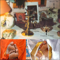 Robert Priddy Altar With Sathya Sai Babas Feet