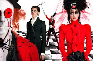 Fashion photo inspired by Tim Burton's Beatlejuice movie