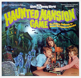The Haunted Mansion board game, based on the Walt Disney World ride