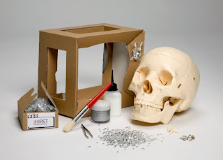 The full contents of iArtists Damien Hirst-esque diamond skull kit