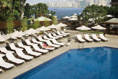intercontinental hong kong fashion geek pool swimming