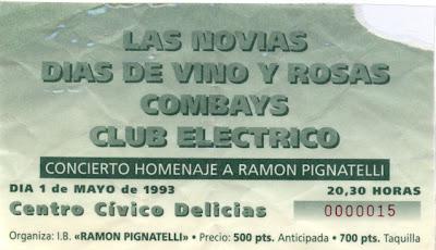 Entrada concierto DDVYR - 01/05/1993