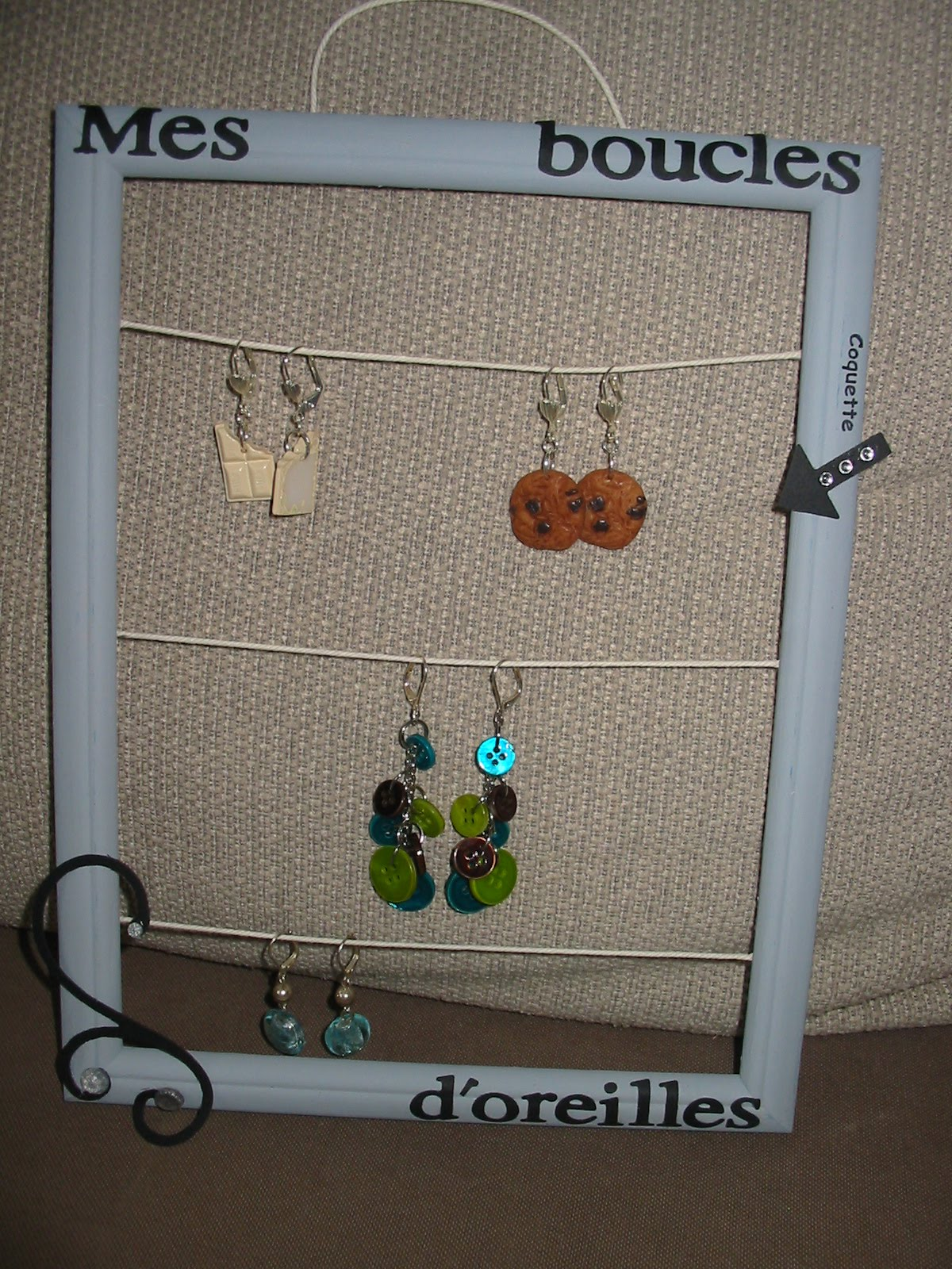 caro fan de scrap range boucles d 39 oreilles
