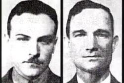 أفراد طاقم المنطاد المفقودين وهما الملازم كودي ومساعده أدامز