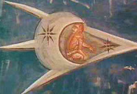 أطباق طائرة ومخلوقات تظهر في أعمال فنية قديمة