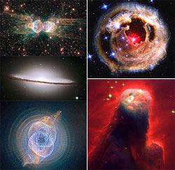 صور مجرات وأشكال سديمية تجسد روعة الكون
