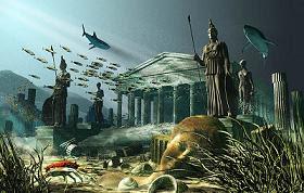 أتلانتس الغارقة في البحر بحسب عمل فني