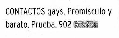Diario de Burgos 18/04/07. Anuncios por palabras. Página 84.