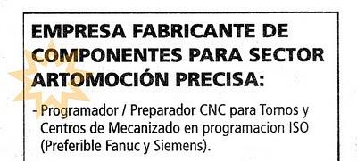Anuncio por palabras en Diario de Burgos viernes 02/04/10
