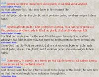 Biblia în diferite traduceri !