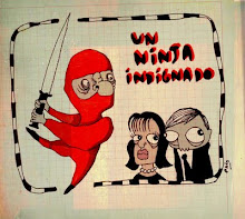 Un ninja indignado por Paio Zuloaga