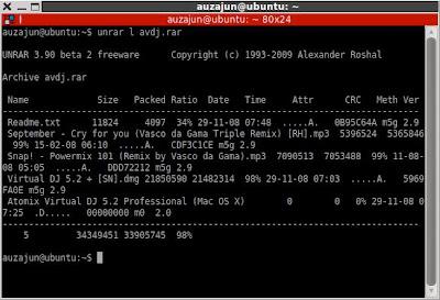 How to extract .rar files in ubuntu Prasanna SP