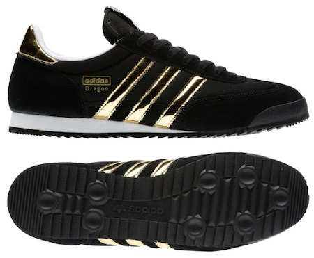 adidas dragon black and gold