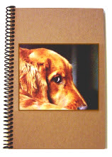 Golden Retriever Journal by Lar Shackelford of Fine Art Shack