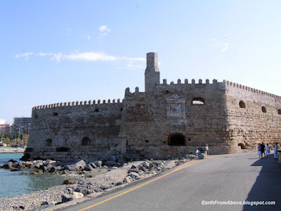 Venetian Medieval Fortress Rocca al Mare at the Harbour of Heraklion, Crete, Greece