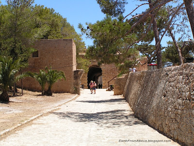Inside Fortezza Castle, Rethymno, Crete, Greece