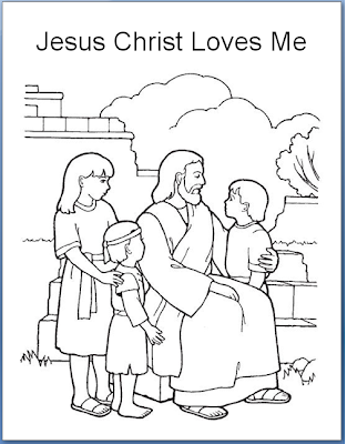 Emma 39 s place jesus christ loves each of us for Jesus loves the little children coloring page