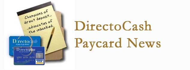 DirectoCash Paycard News