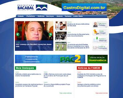 IMAGEM - Site da Prefeitura Municipal de Bacabal - MA