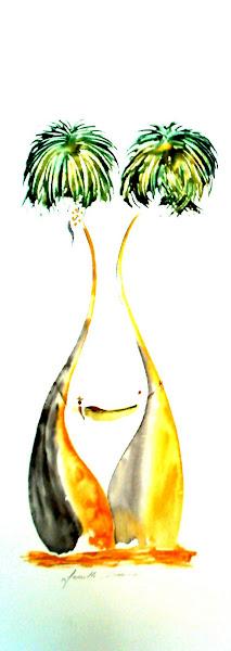 Farniente (aquarelle au couteau)