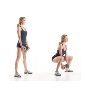 Exercices simples pour un ventre plat-Dumbbell Sumo Squat