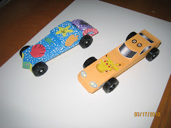 Me And Emma's race cars
