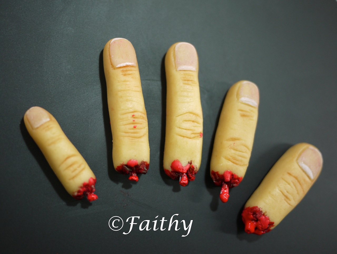 Pink Little Cake: Halloween Series...Day 28 Marzipan Finger ...