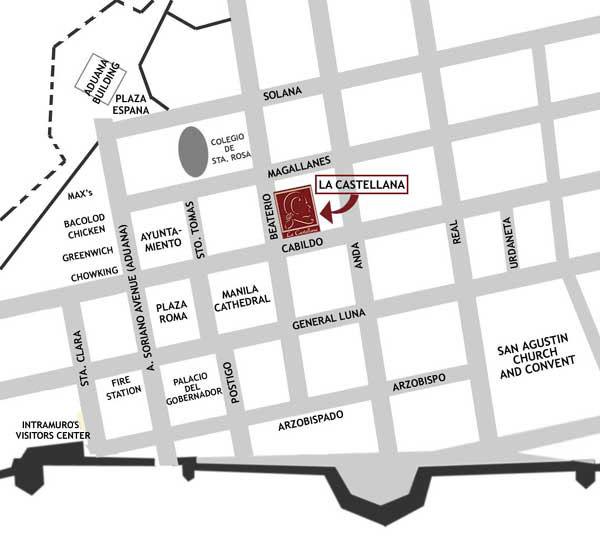 La Castellana Map