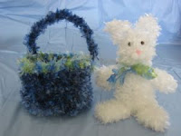 Easter Bunny in Basket Crochet Project
