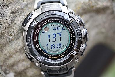how to set up casio parthfinder 1300b watches