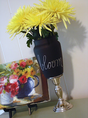 How To Make A Chalkboard Vase All Crafty Things