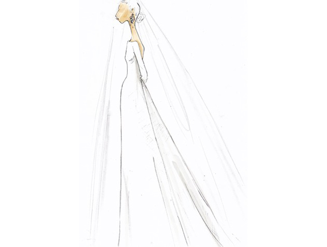 princess diana wedding dress train length. to the late Princess Diana