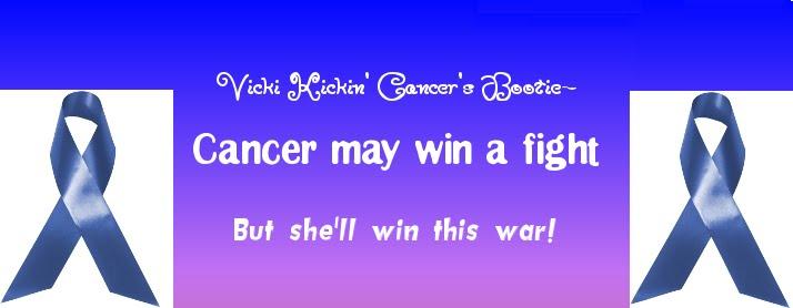 Vicki Kickin' Cancer's bootie