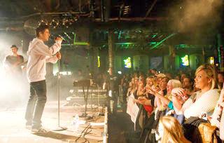 David Archuleta sings on stage
