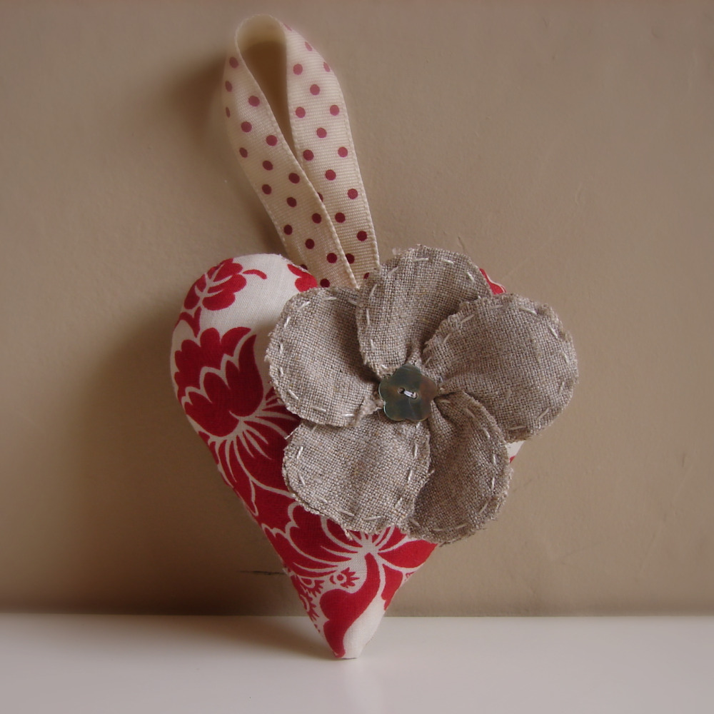 Roxy creations christmas decorations floral hearts