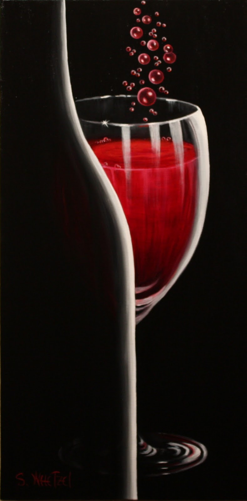 Abstract paintings of wine glasses bing images for How to paint a wine glass with acrylics