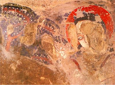 painting at bamyan in afghanistan predating european oil painting