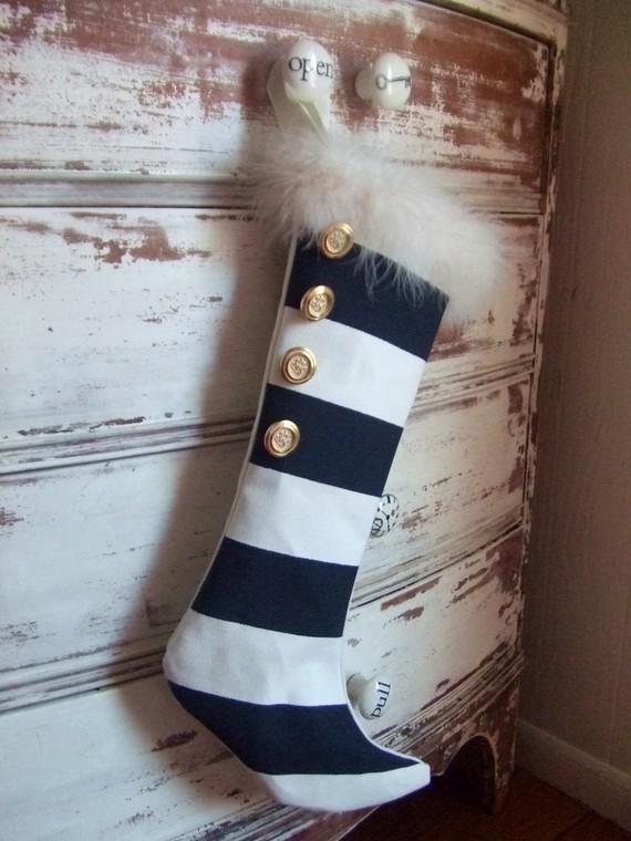Janey Mac Modern Shabby Chic Christmas Stockings