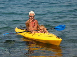 Il nonno in canoa con Airam